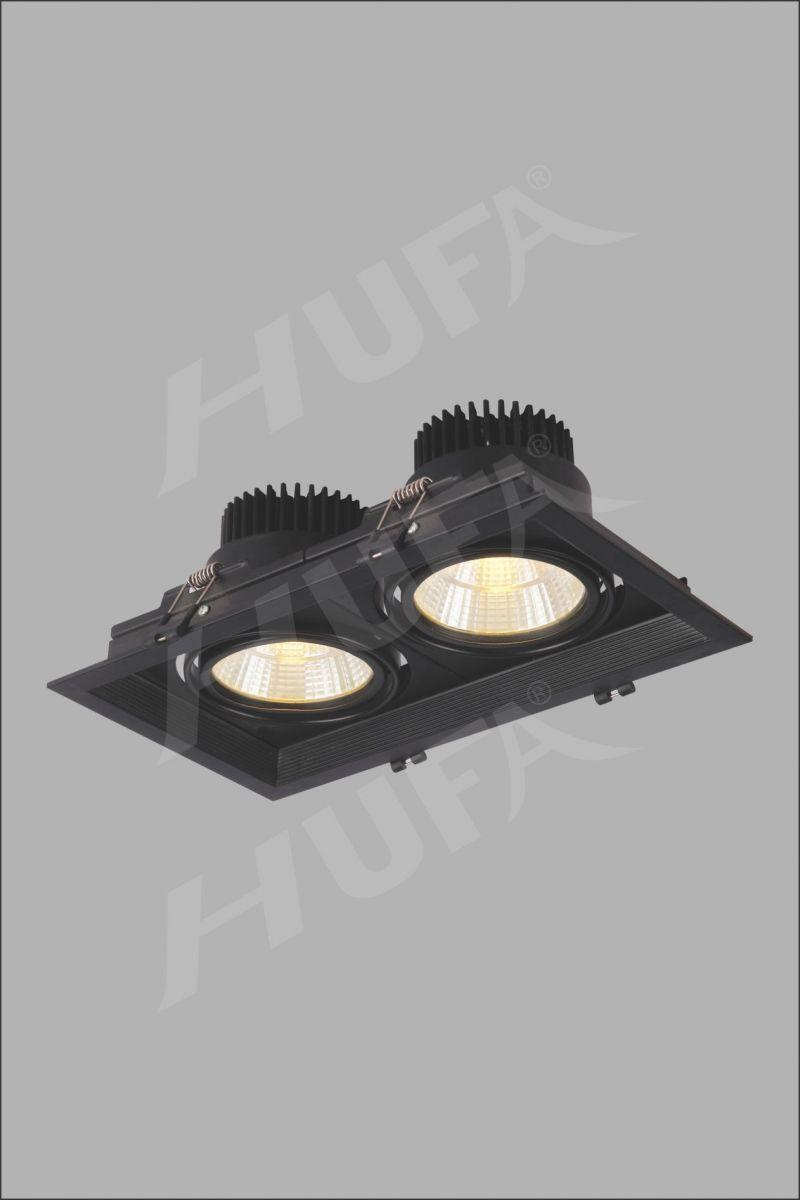 ĐÈN LED ÂM TRẦN ĐÔI HUFA AT 101 LED COB 10W x 2 W150xL220xH150 L19