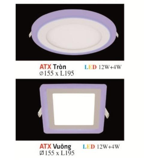 ĐÈN LED ÂM TRẦN VIỀN XANH 12W+4W
