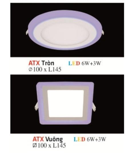 ĐÈN LED ÂM TRẦN HUFA ATX 02 VIỀN XANH 6W+3W