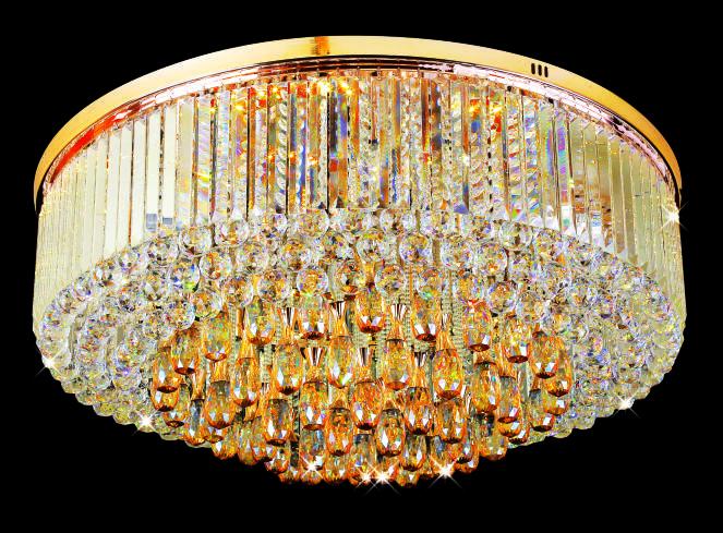 Đèn Mâm Pha Lê Hufa MLF 6817 Ø600 x H300 LED SMD, 59 + 28 HẠT T80