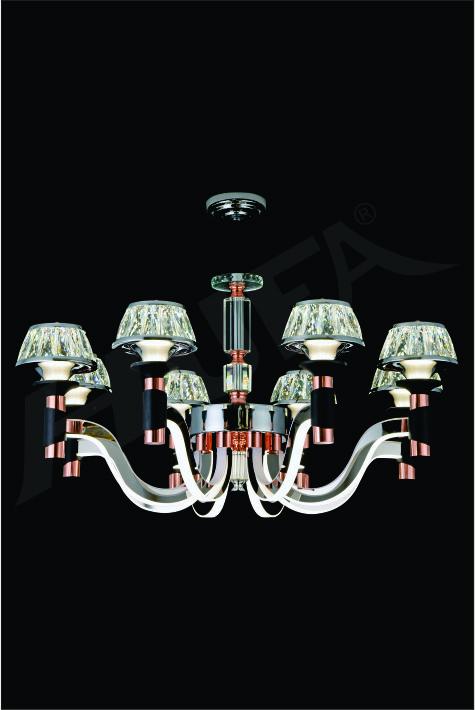 ĐÈN CHÙM KIỂU Ý HUFA CY 18059/8 Ø850 x H450 LED 70W T168