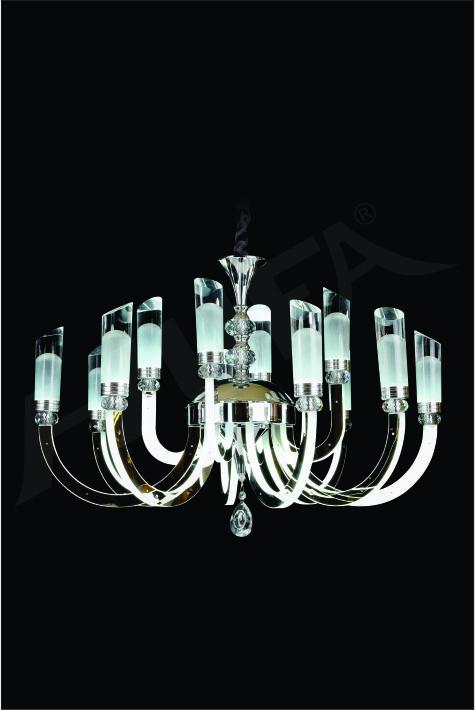 ĐÈN CHÙM KIỂU Ý HUFA CY P79/8+4 Ø700 x H500+400 LED 156W AST T171