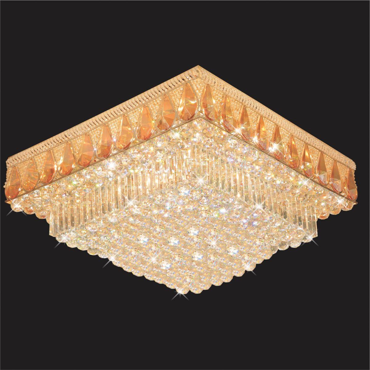 Đèn Mâm Pha Lê Hufa MLF 1506 Ø600xH280 LED SMD 169 HẠT T76