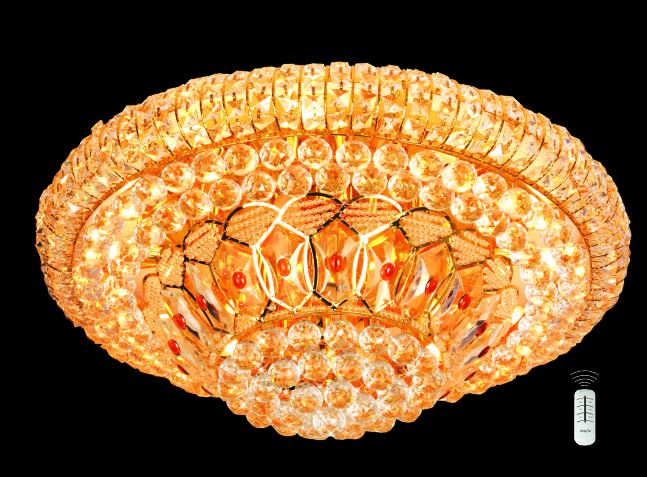 Đèn Mâm Pha Lê Hufa MLF 5028 Ø600 x H400 CẦU XOAY E14x10 LED RGB, 51 HẠT T81