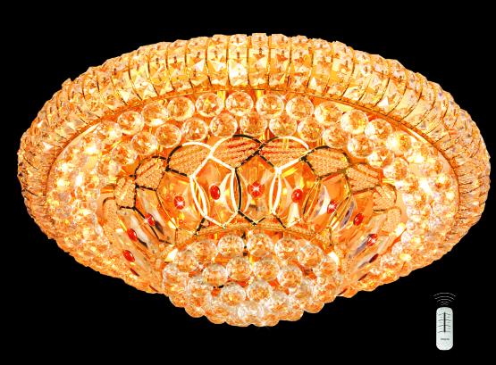 Đèn Mâm Pha Lê Hufa MLF 5028 Ø800 x H500, CẦU XOAY E14x18 LED RGB, 121 HAT T81
