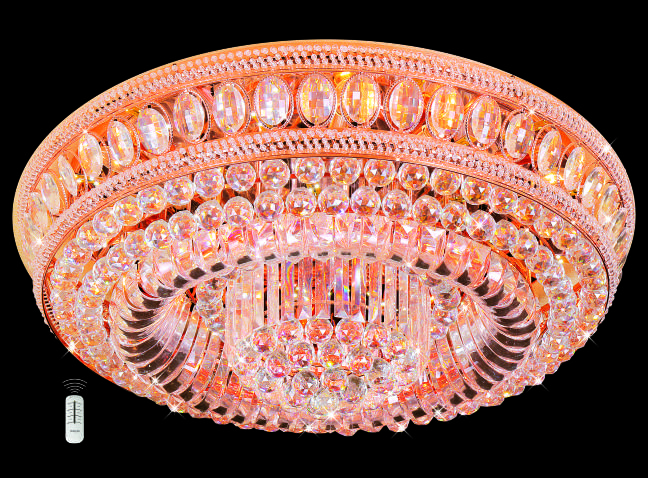 Đèn Mâm Pha Lê Hufa MLF 590 Ø800 x H300 E14x10 LED SMD, 132 HẠT T77