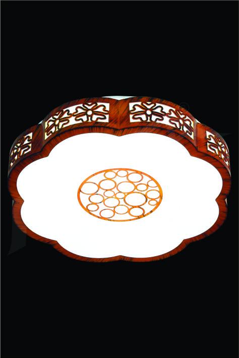 ĐÈN MÂM LED GỖ HUFA OTG 20 Ø500xH80 LED 80W 3CD T358