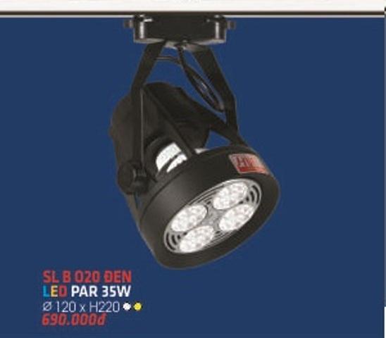 ĐÈN PHA RAY LED HUFA SL B 020 ĐEN