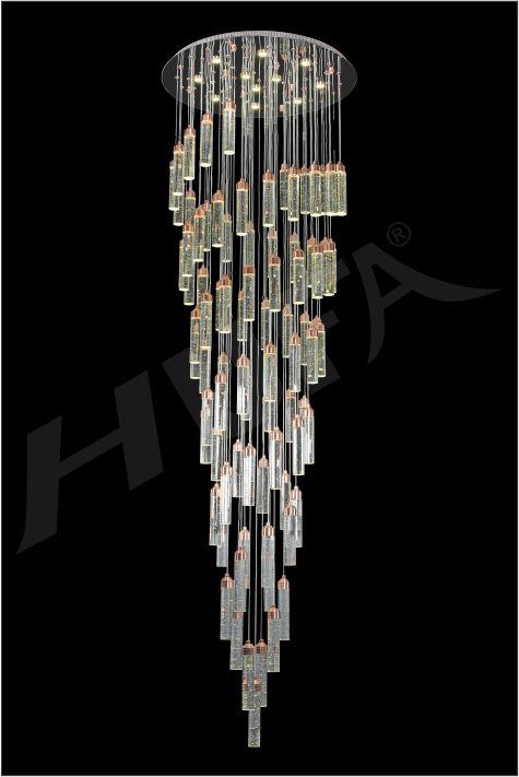 ĐÈN CHÙM PHA LÊ HUFA TL 88856/85 Ø650 x H3000 LED 275W 3CD T89